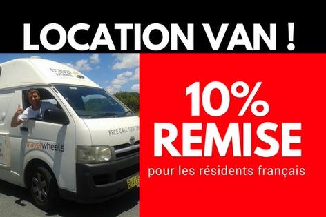 Location Van à Cairns 10% remise pour les résidents français